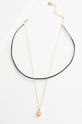 layered charmed choker