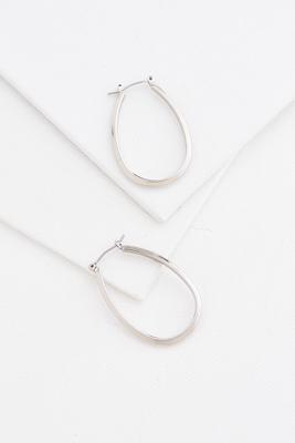 brass oval hoop earrings