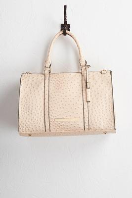 ostrich weekender bag