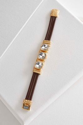 rhinestone multi band bracelet