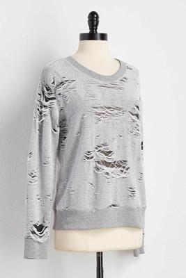 destructed sweatshirt