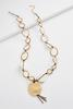 Hammered Disc Semi- Precious Necklace