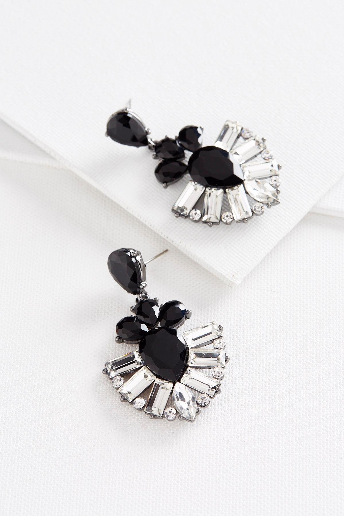Glass Stone Statement Earrings