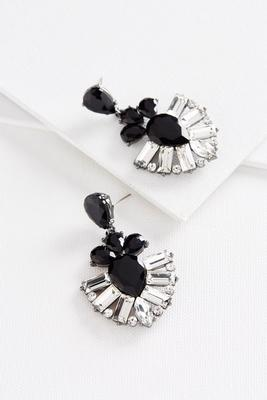 glass stone statement earrings
