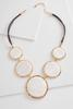 Shell Stone Disc Statement Necklace