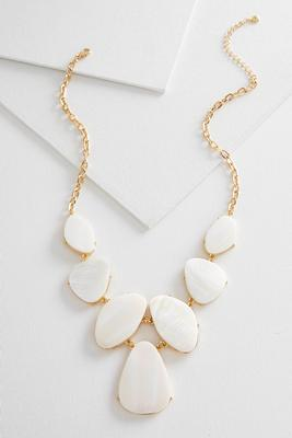 shell stone statement necklace