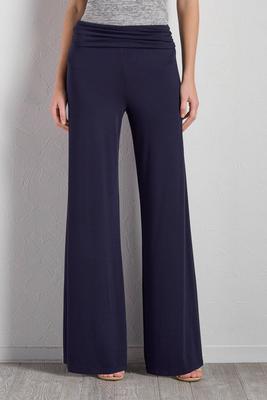 foldover waist palazzo pants