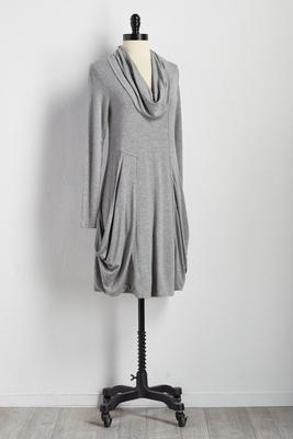 draped pocket utility dress