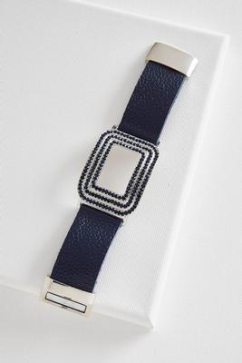cutout square plate magnetic bracelet