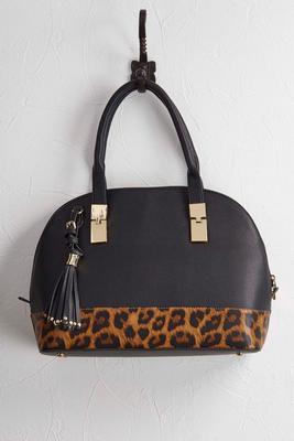 two-tone satchel
