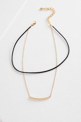 layered chain cord choker