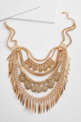 layered tribal bib necklace