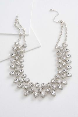 haloed stone statement collar necklace
