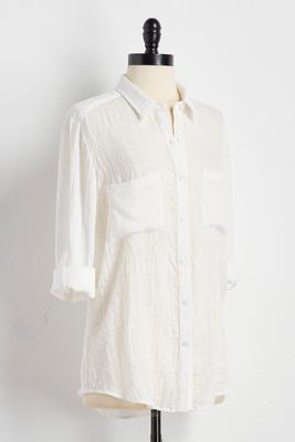 gauze button down shirt