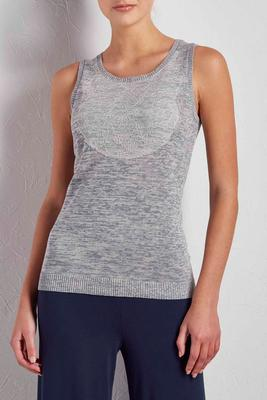 lace bib space dyed sweater tank