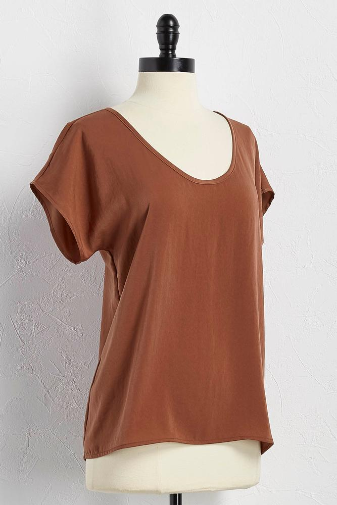 Crushed Satin Shell Top