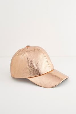 crackle metallic baseball cap