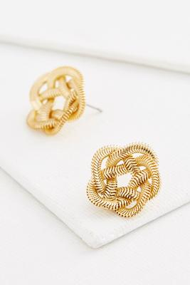 snake chain knotted stud earrings