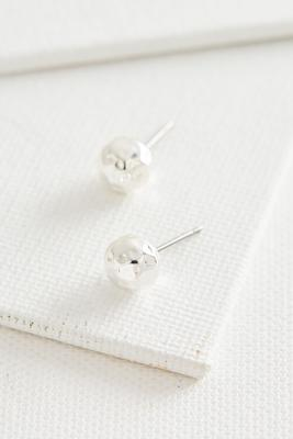 hammered metal stud earrings