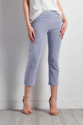 vertical striped crop pants