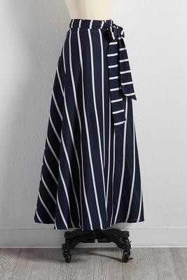 striped full maxi skirt