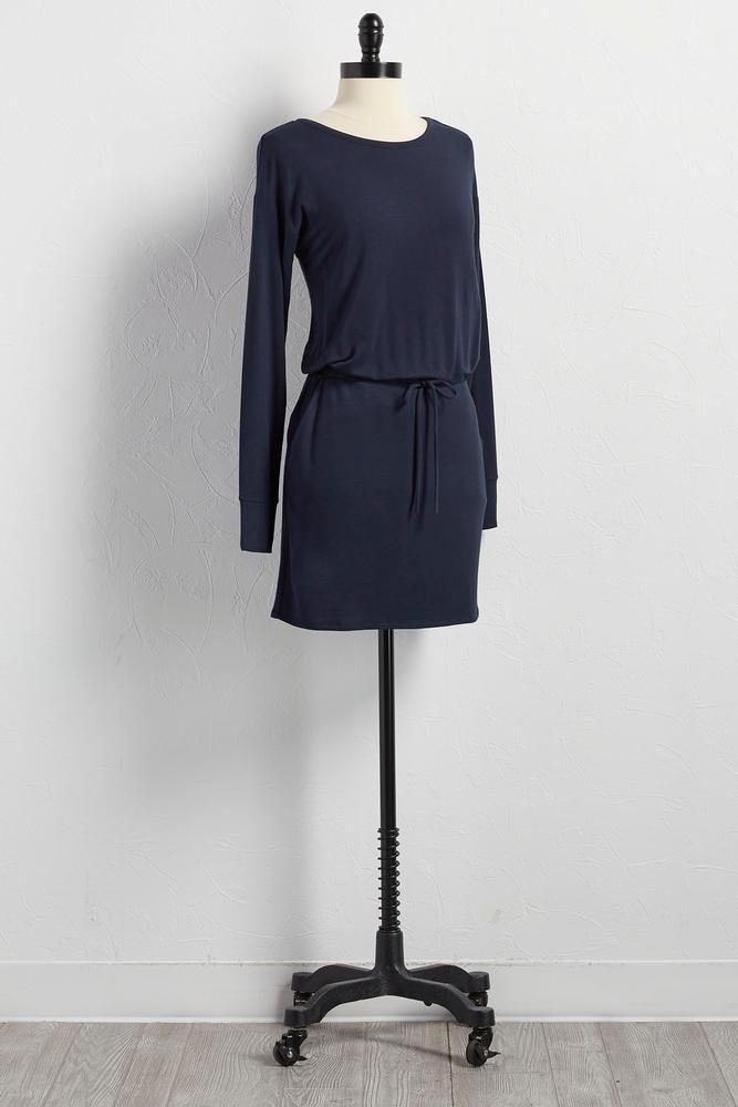 Drawstring T- Shirt Dress