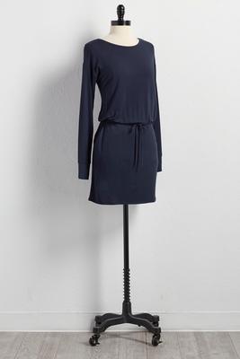 drawstring t-shirt dress