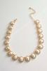 Rhinestone Border Pearl Collar Necklace