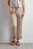 Drawstring Linen Blend Crop Pants