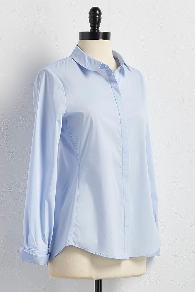 Peter Pan Collar Button Down Shirt
