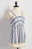 Directional Striped Babydoll Tank