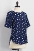 Graphic Polka Dot High- Low Top
