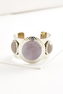 hammered semi-precious cuff bracelet
