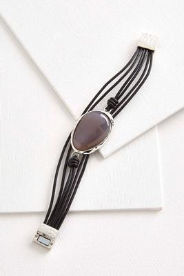 semi-precious cord bracelet