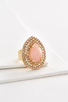 haloed stone statement ring