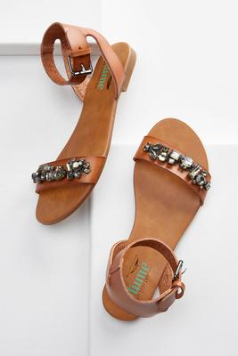 jeweled ankle cuff sandals