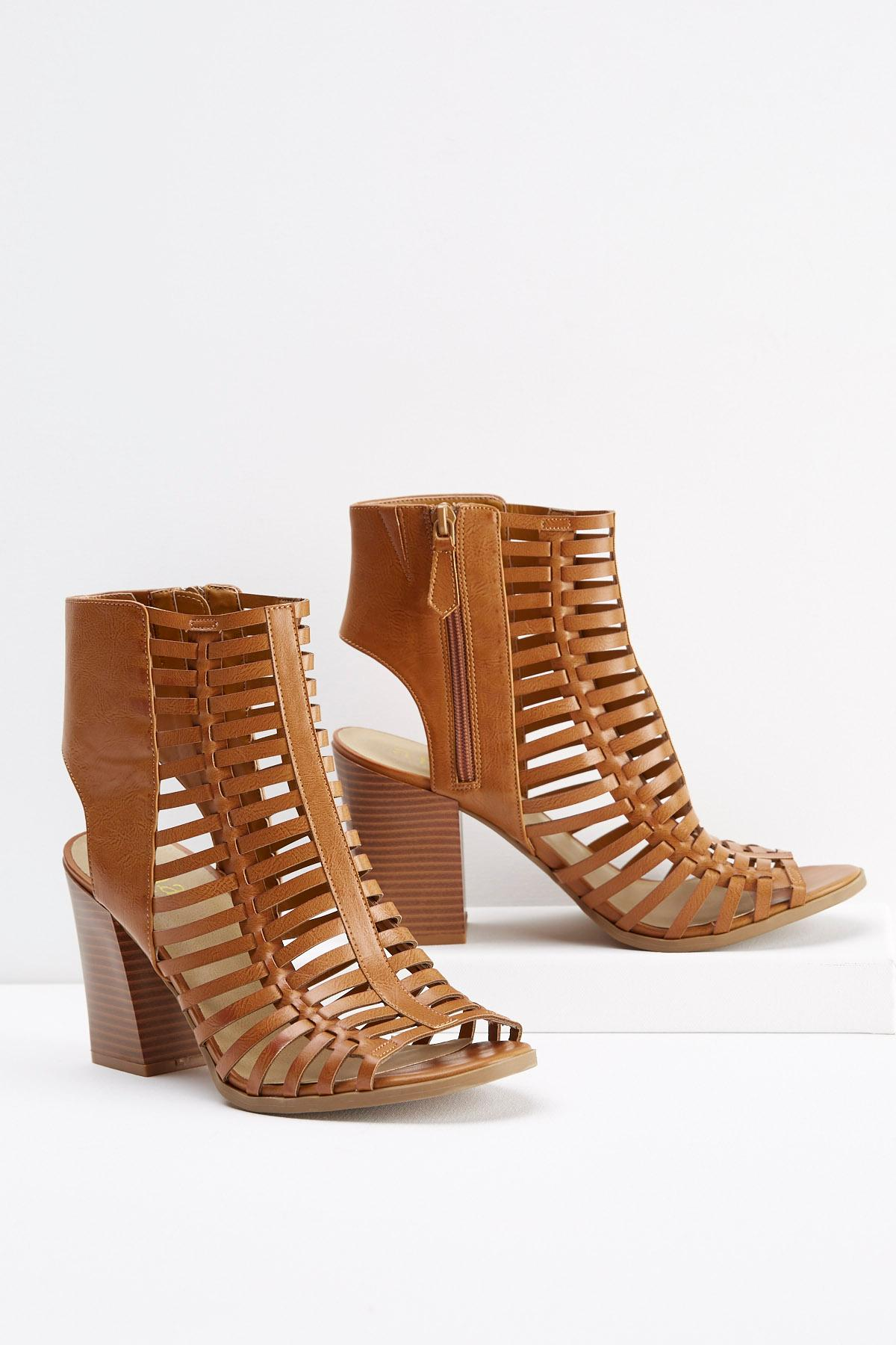 Block Heel Gladiator Sandals