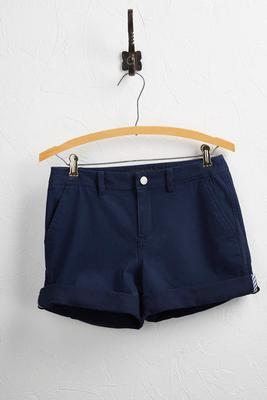 cuffed chino shorts