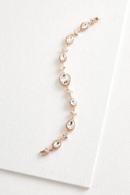 mixed rhinestone clasp bracelet