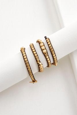 beaded cord wrap bracelet