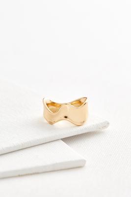 wavy metal ring
