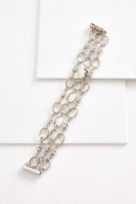 textured chain link magnetic bracelet