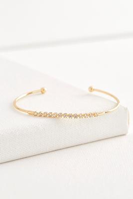 skinny pave cuff bracelet