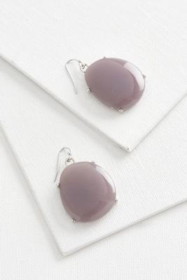 marbleized stone dangle earrings