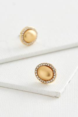 haloed metal stud earrings