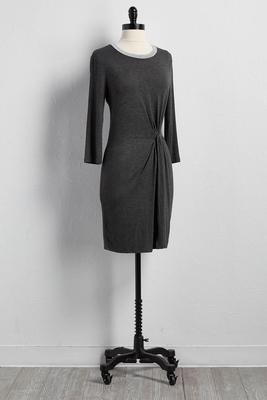 twist waist sheath dress