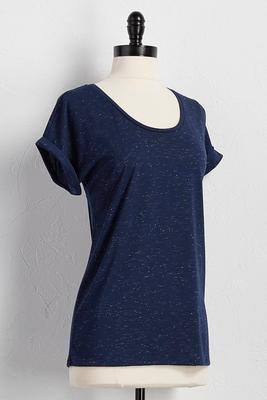 glitter speckled tee