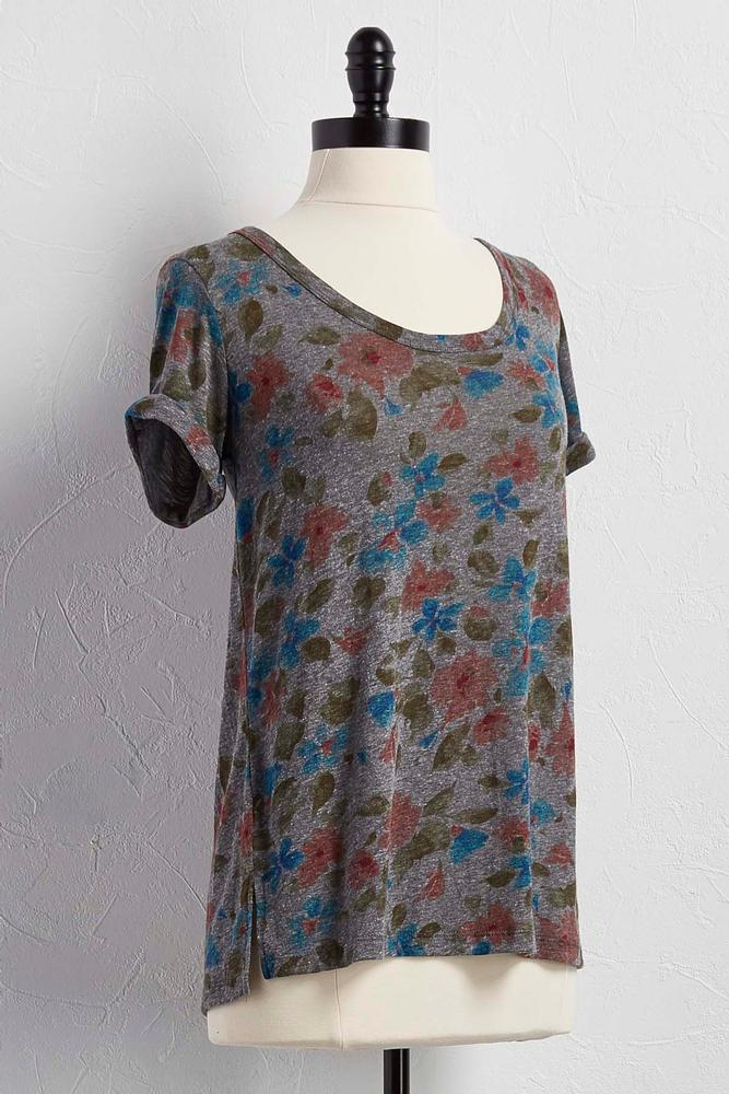 Graphic Floral Tee