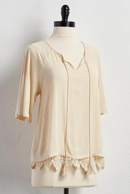 tassel neck poet top