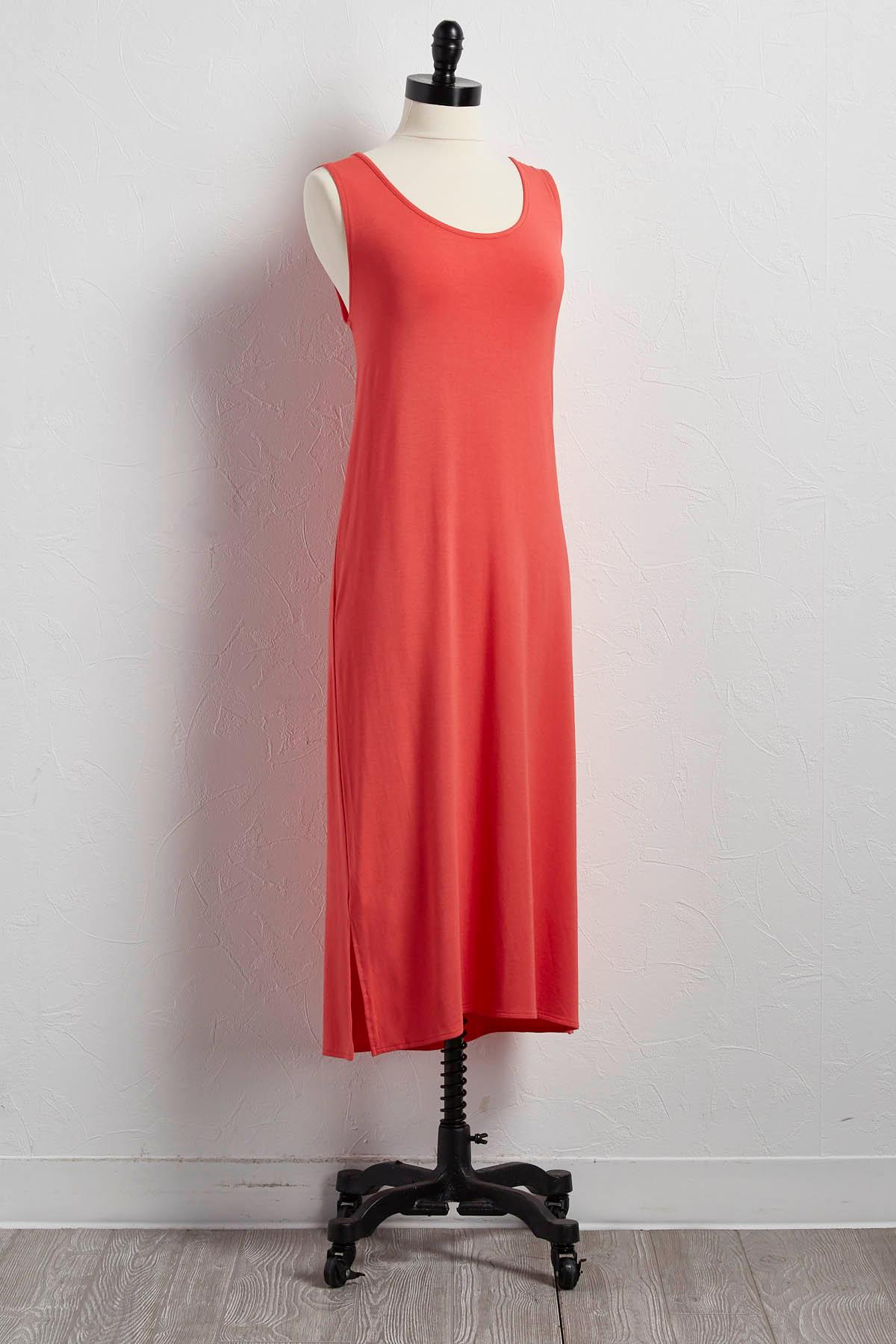 Lattice Back Midi Dress
